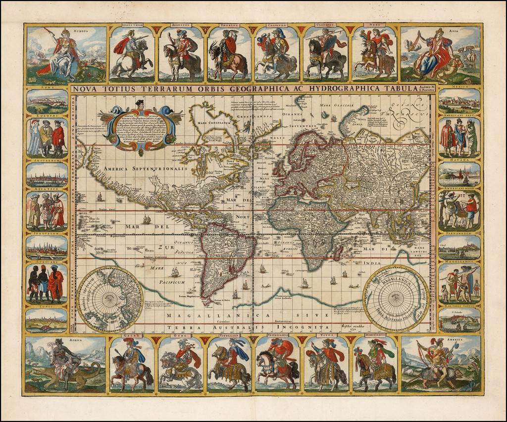 World Map By Claes Janszoon Visscher