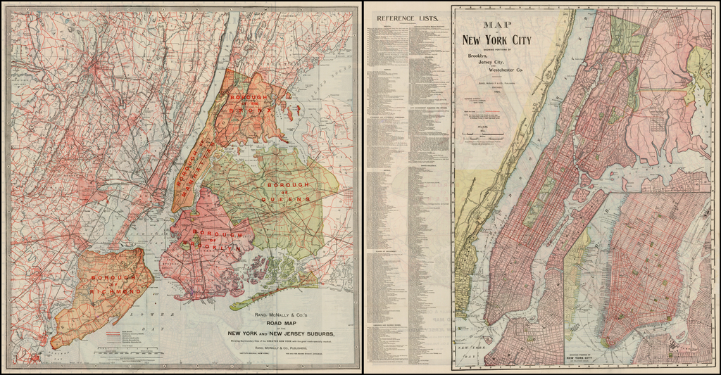 Map Of New York Suburbs.Map Of New York City Showing Portions Of Brooklyn New Jersey