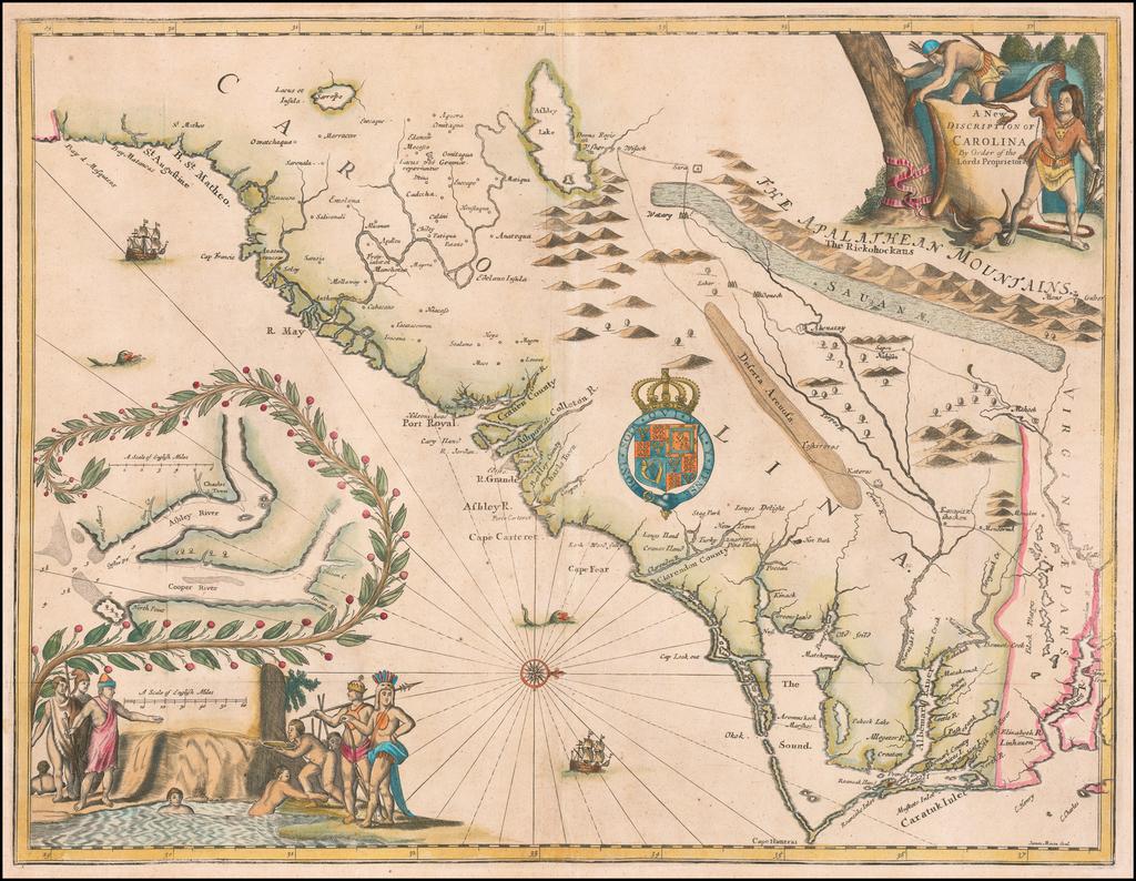 A New Discription of Carolina By Order of the Lords Proprietors By John Ogilby - James Moxon