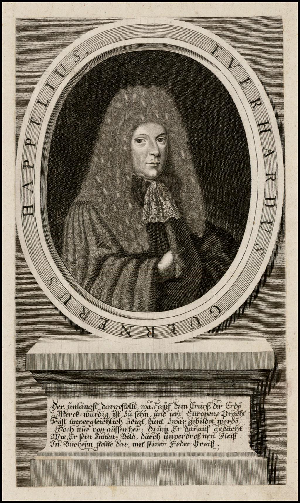 Happelius Everhardus Guernerus  (Eberhard Happel) By Anonymous