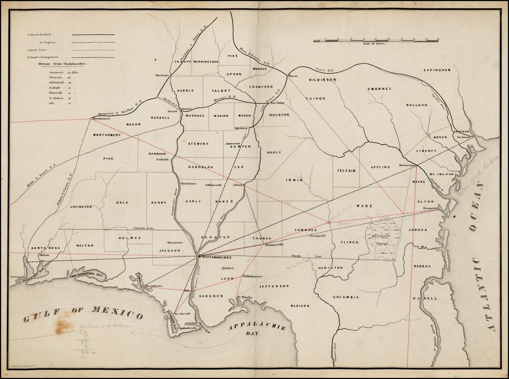Railroad Map Of Georgia.Untitled Railroad Map Of Southern Georgia Southern Alabama And