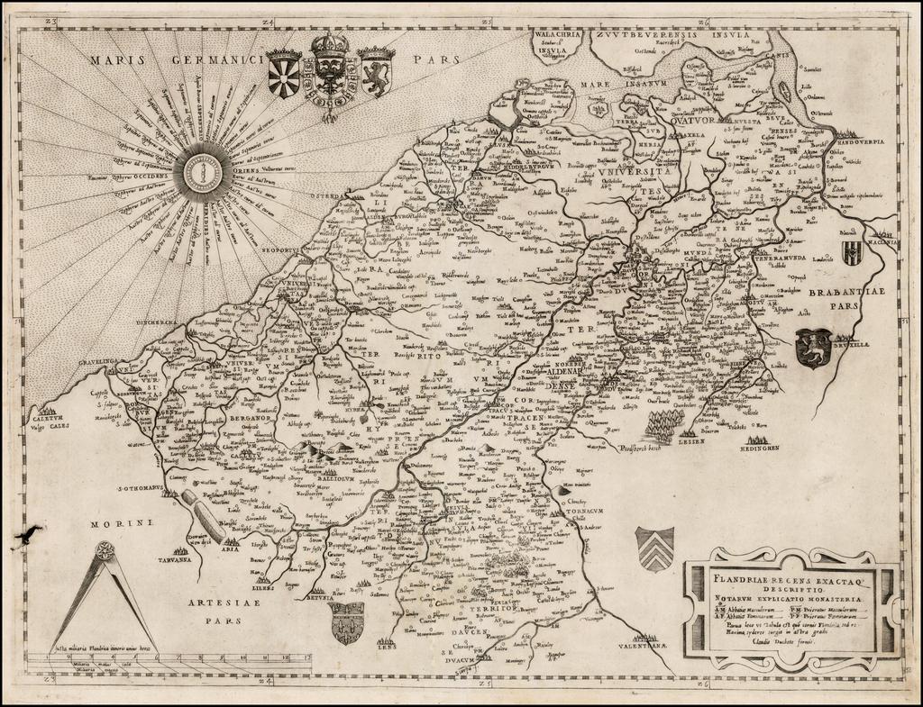 Flandriae Recens Exactaq Descriptio . . .  By Claudio Duchetti