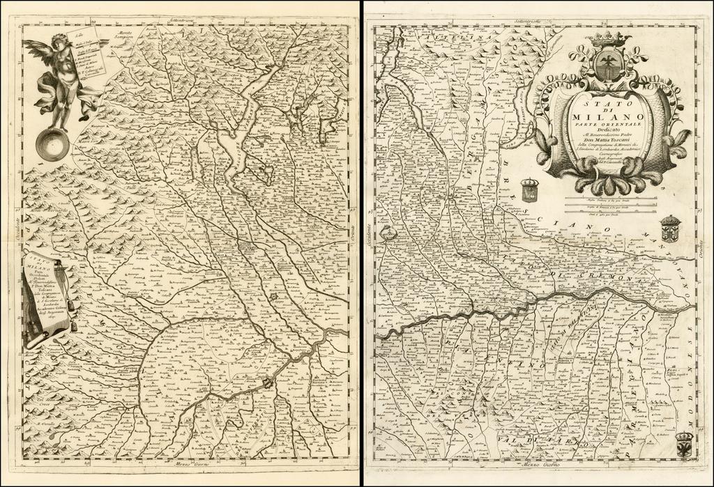 Stato Di Milano Parte Occidentale [and] Stato Di Milano Parte Orientale By Vincenzo Maria Coronelli
