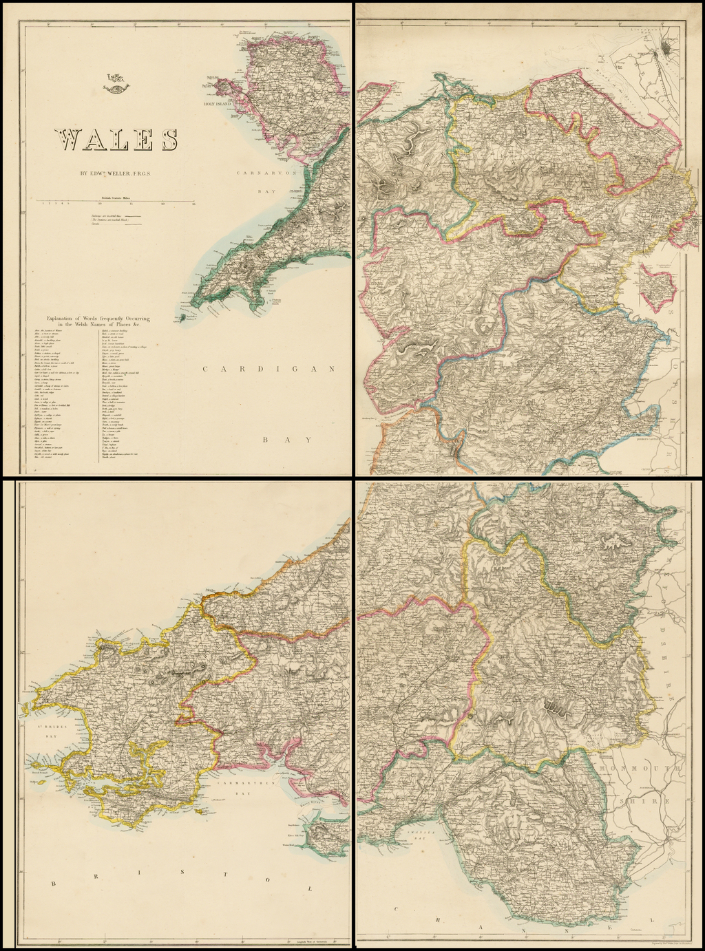 Wales (4 sheets) By Edward Weller / Weekly Dispatch