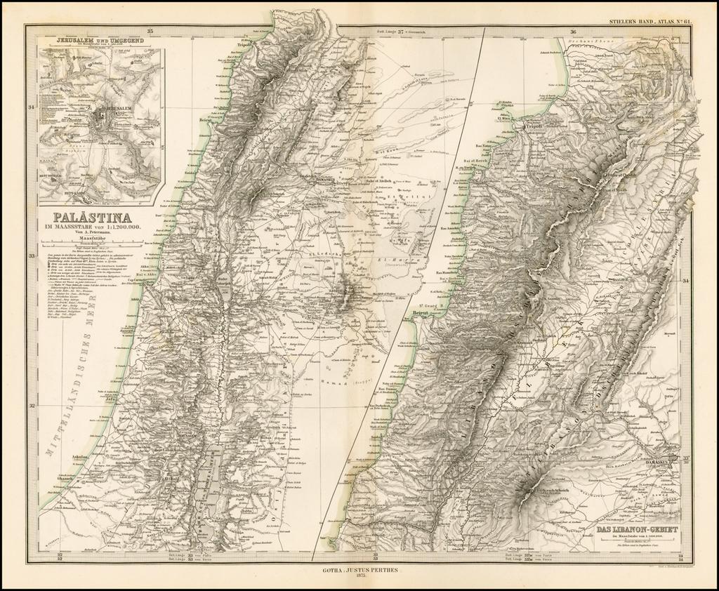 Palastina (Jerusalem und Umgegend - Das Libonon-Gebiet ... on gang map, fat map, central european time zone map, super map, de map, nd map, car map, old map, un map, mis map, spain and portugal map, n dakota state map, bogota on map, union map, uno map, unr map, red map, umd map, fun map, war map,