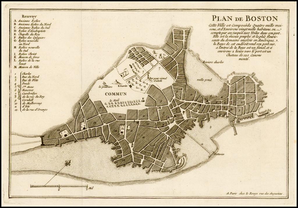 Plan de Boston  . . .  By George Louis Le Rouge