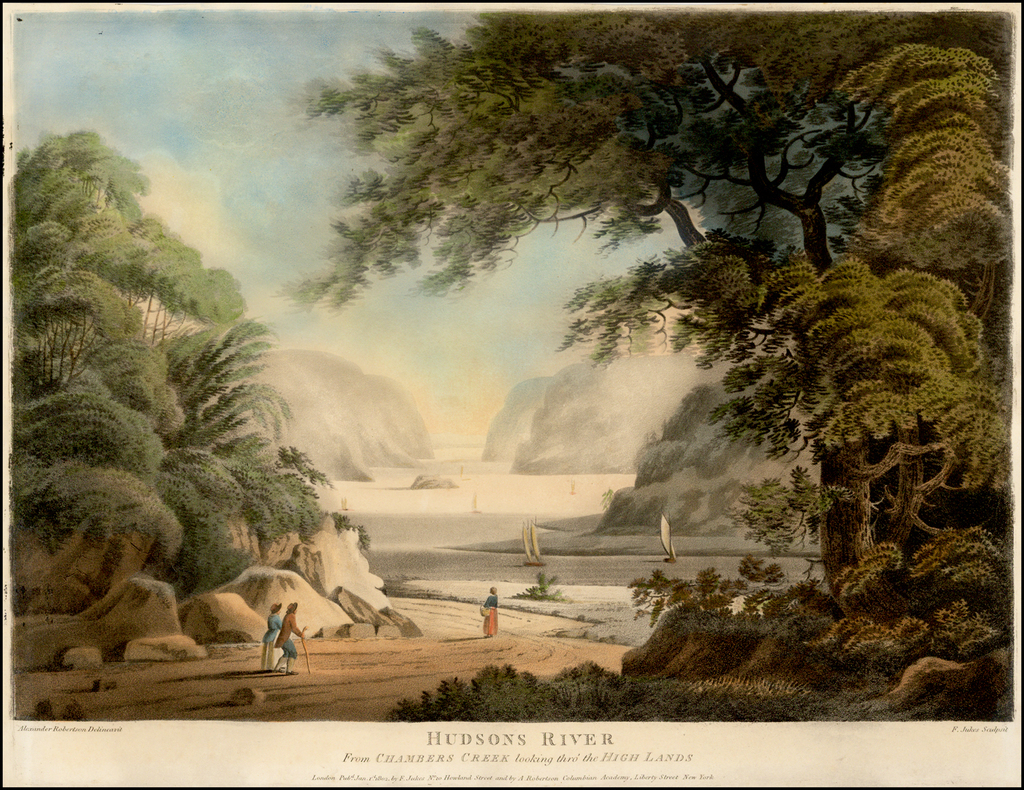 Hudsons River From Chambers Creek looking thro the High Lands (West Point) By Alexander Robertson