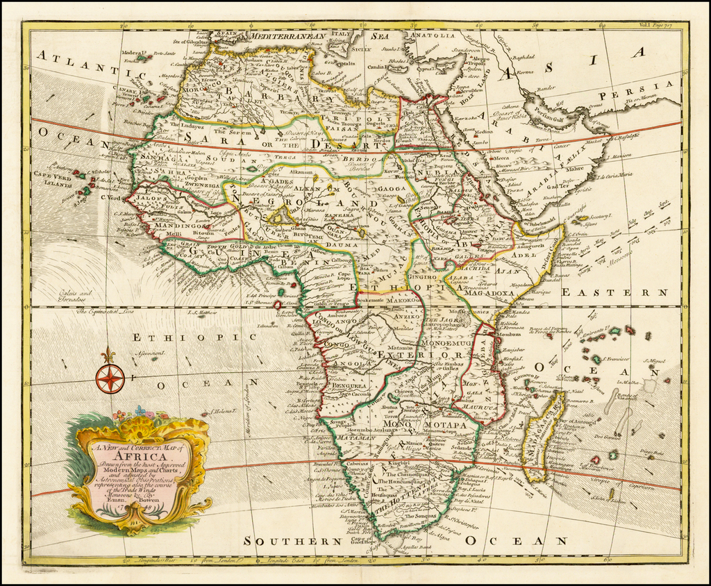 A New and Correct map of Africa. Drawn from the most ...