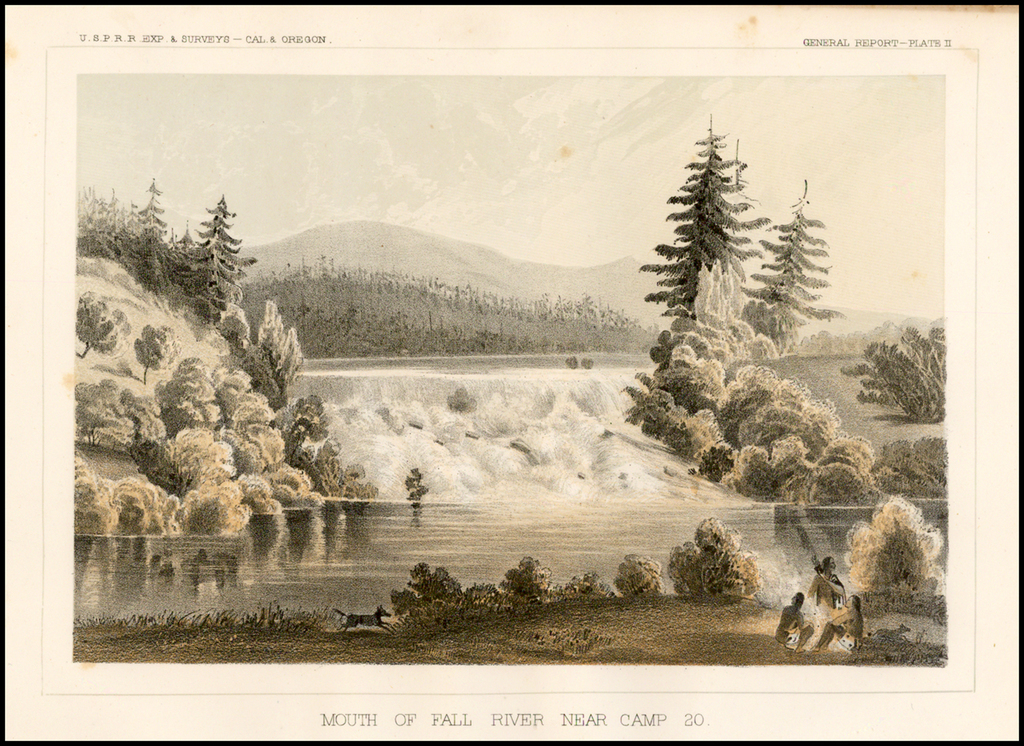 Mouth of Fall River Near Camp 20. By U.S. Pacific RR Surveys