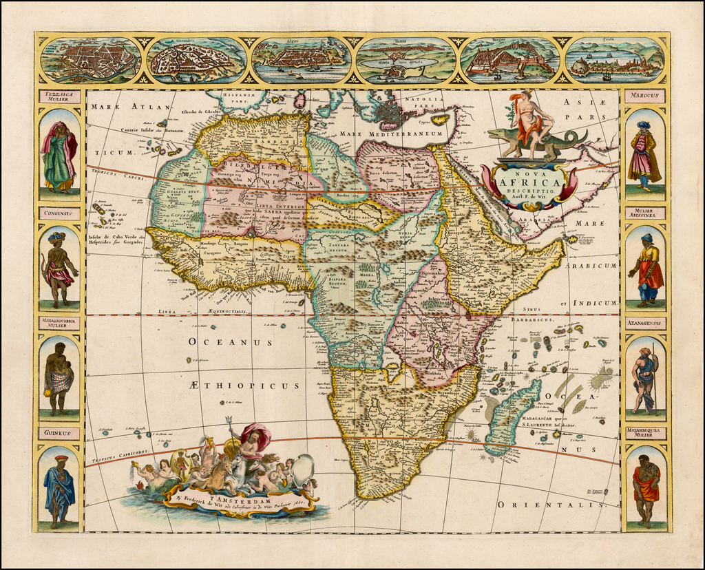 Nova Africa Descriptio . . . 1660 By Frederick De Wit