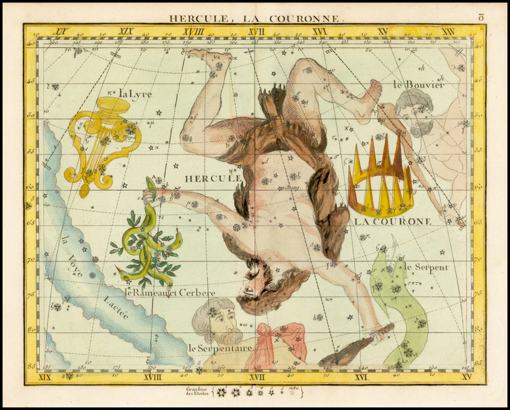 Hercules, La Couronne  (Hercules and The Crown) By John Flamsteed / MJ Fortin