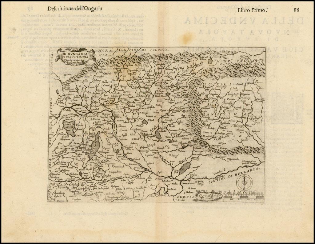 Di Hungaria et Transilvania Tavola Novissima . . .  By Girolamo Ruscelli