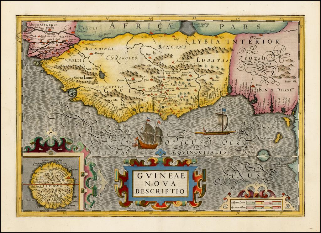 Guineae Nova Descriptio By Jodocus Hondius