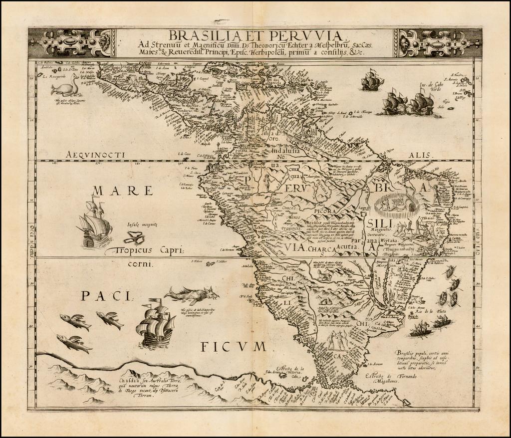 Brasilia et Peruvia . . .  By Cornelis de Jode