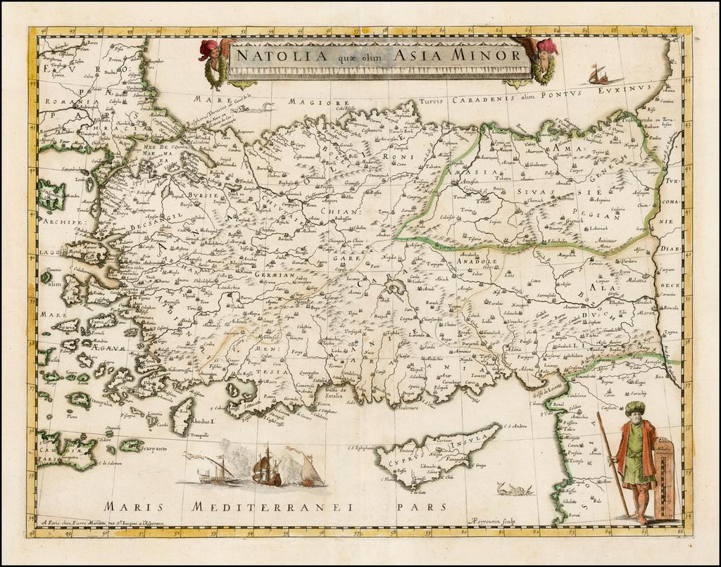 Natolia quae olim Asia Minor By Pierre Mariette