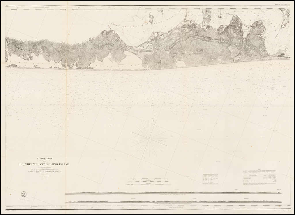 Middle Part of the Southern Coast of Long Island  By United States Coast Survey