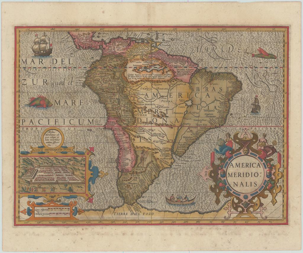 America Meridionalis By Jodocus Hondius