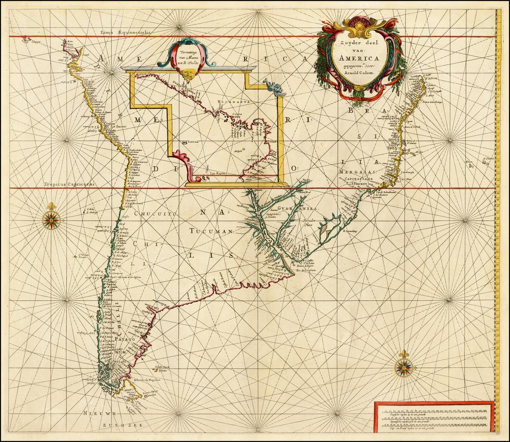 Zuyder deel van America uyt gegeven door Arnold Colom By Arnold Colom