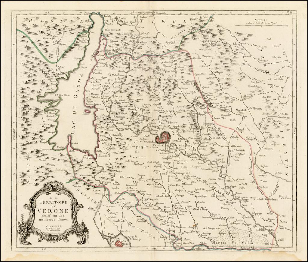 Le Territoire de Verone dressee sur les meillures Cartes . . . 1776 By Paolo Santini