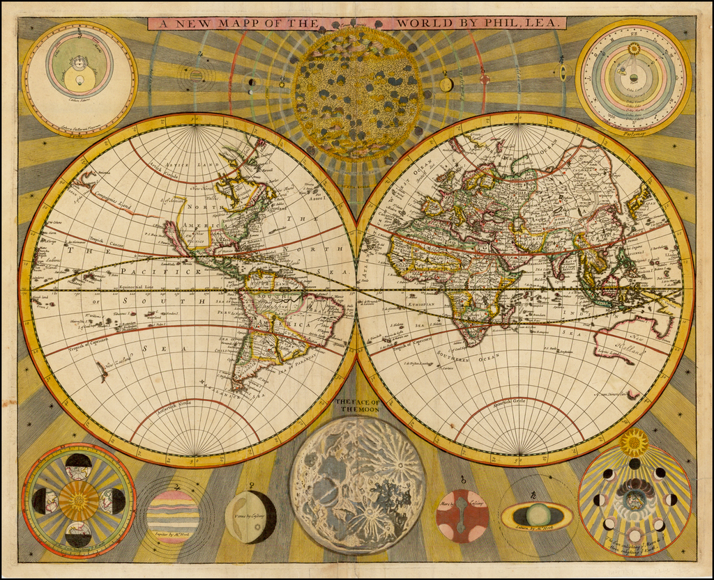 A New Mapp of the World By Phil. Lea. By Philip Lea