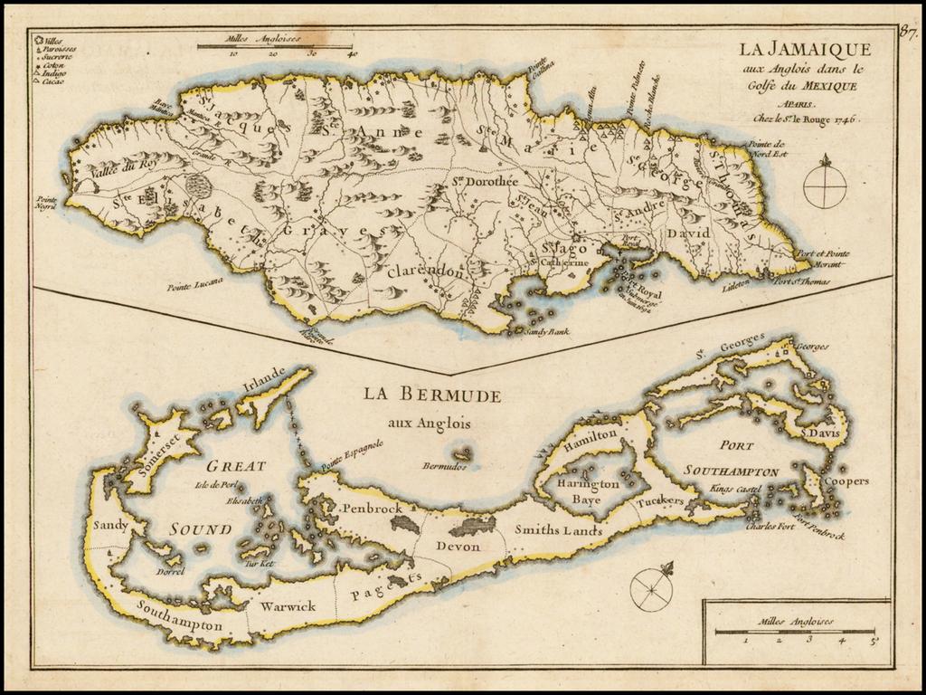 La Jamaique . . .  [with] La Bermude . . .  By George Louis Le Rouge