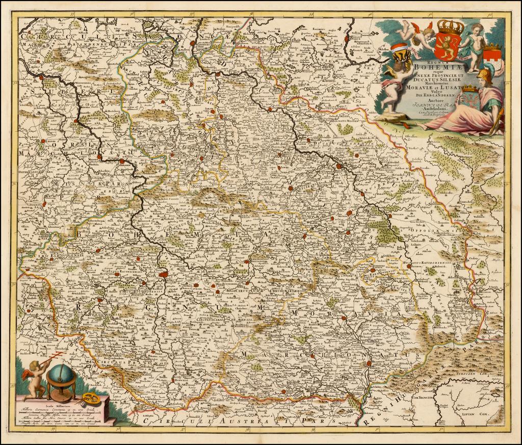 Regnum Bohemiae eique Annexae Provinciae ut Ducatus Silesiase Marchionatus Moraviae et Lustia Vulgo Die Erb-Landeren . . .  By Johannes De Ram