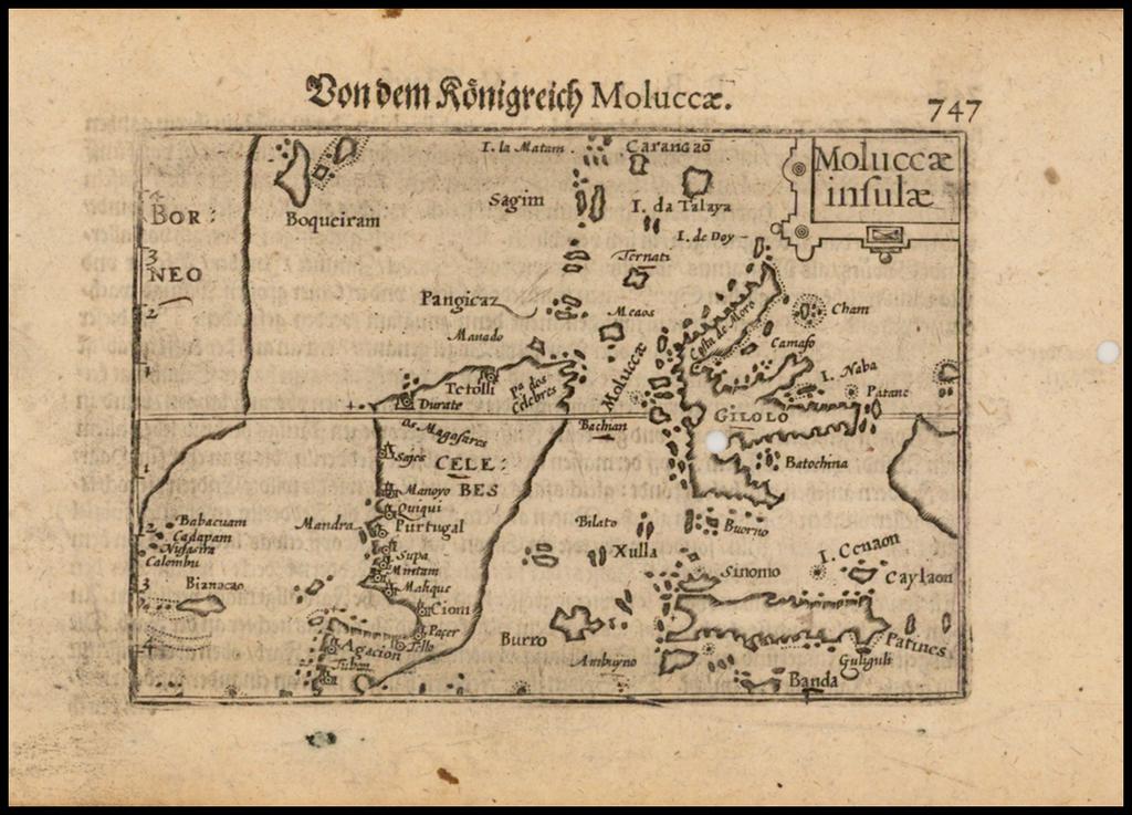 Moluccae insulae By Barent Langenes