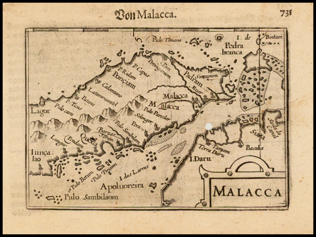 Malacca (Singapore named) By Barent Langenes