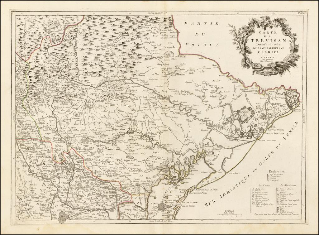 Carte du Trevisan . . . 1776 By Paolo Santini