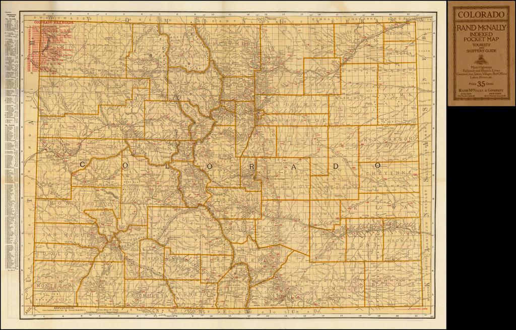 Rand, McNally & Co.'s Indexed Pocket Map of Colorado (Pocket Map) By Rand McNally & Company