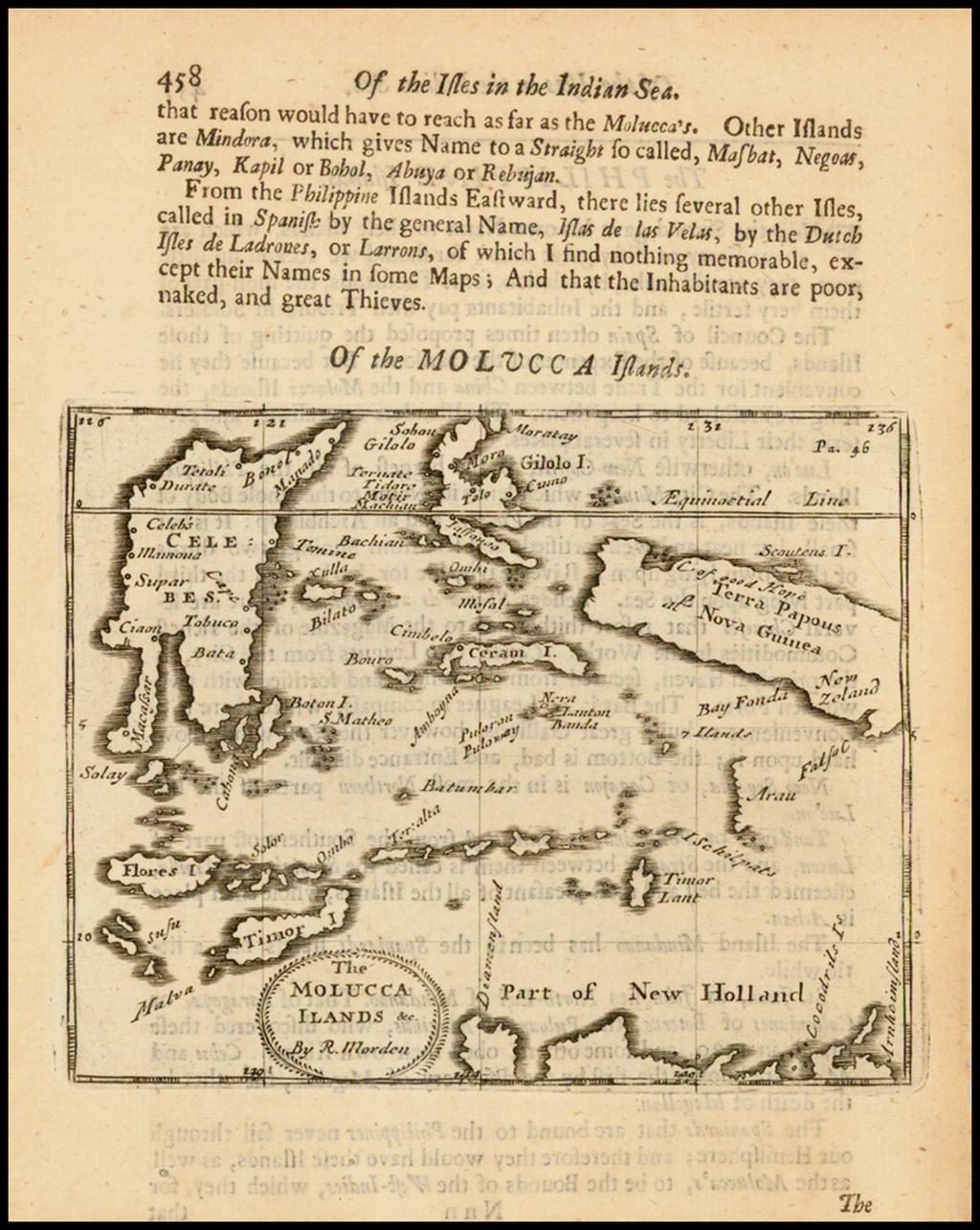 The Molucca Ilands &c. [shows part of Australia] By Robert Morden