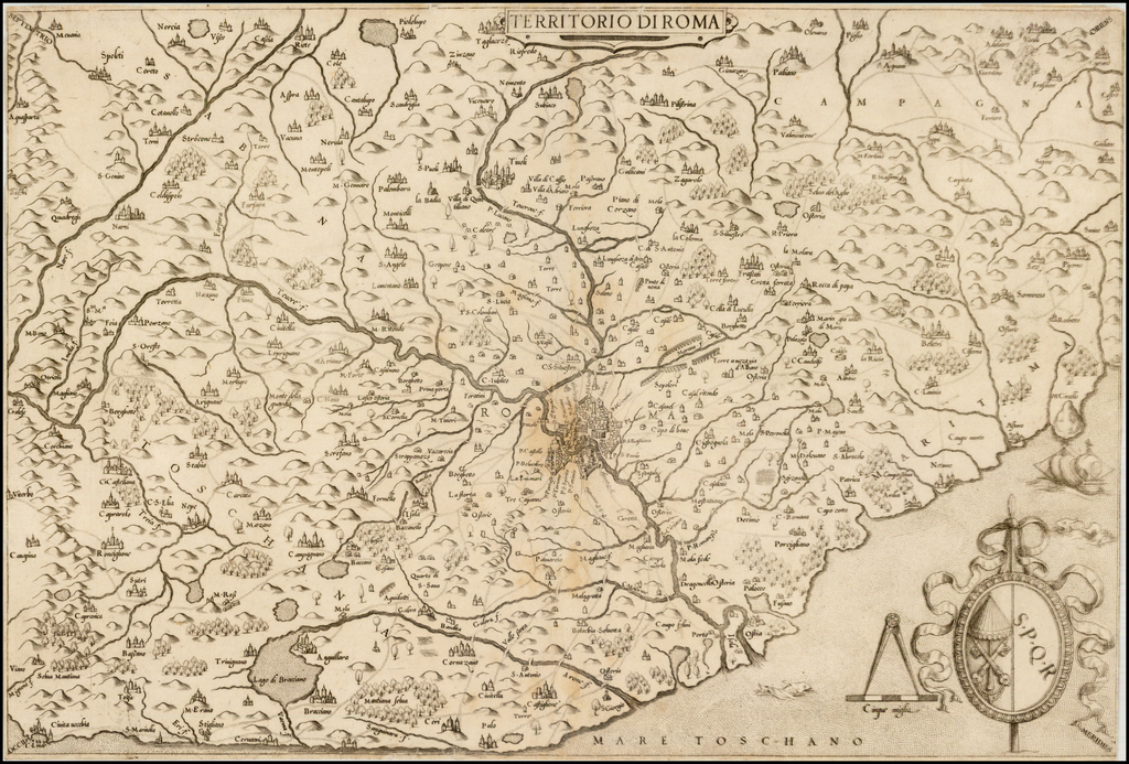 Territorio di Roma. By Giovanni Francesco Camocio