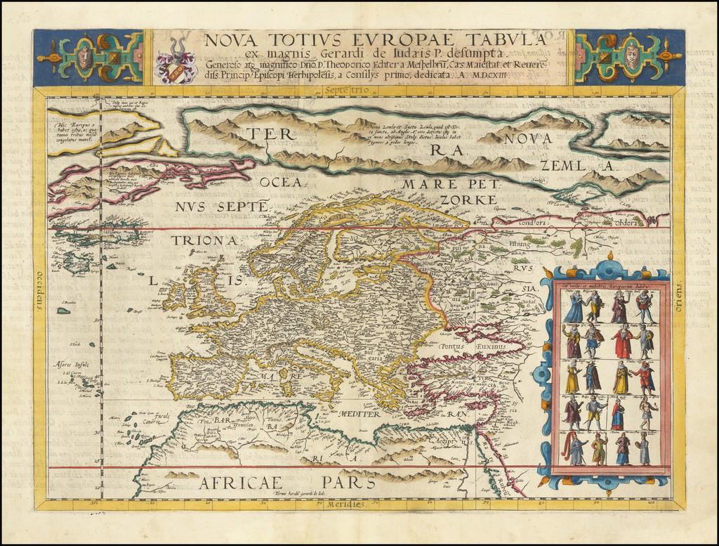 Nova Totius Europae Tabula ex magnis Gerardi de Iudaeris P. Desumpta . . . MDCXIII By Gerard de Jode