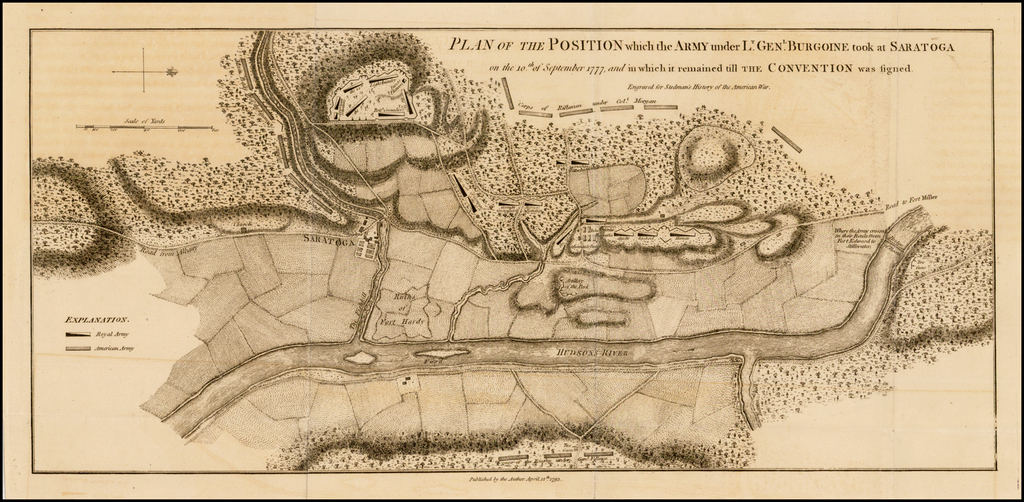 Plan of the Position which the Army under Lt. Gen. Burgoine took at Saratoga on the 10th of September 1777 and in which it remained till the Convention was signed. By Charles Stedman / William Faden