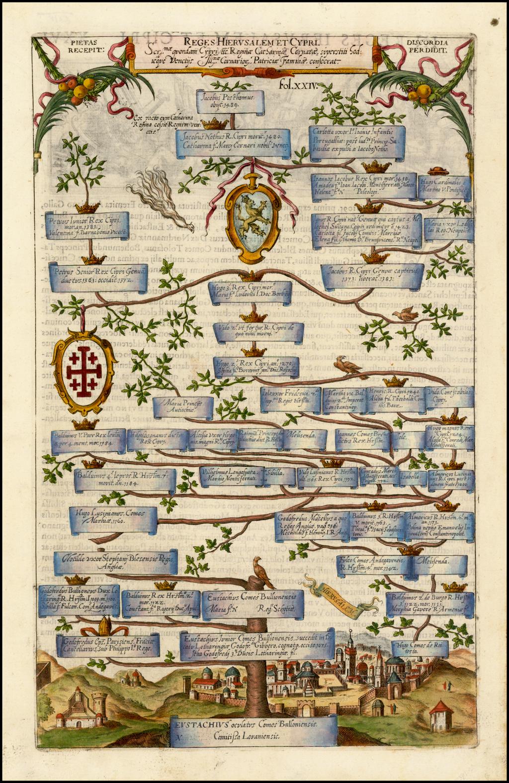 Reges Hierusalem et Cyrpi . . .  By Antonio Albizzi