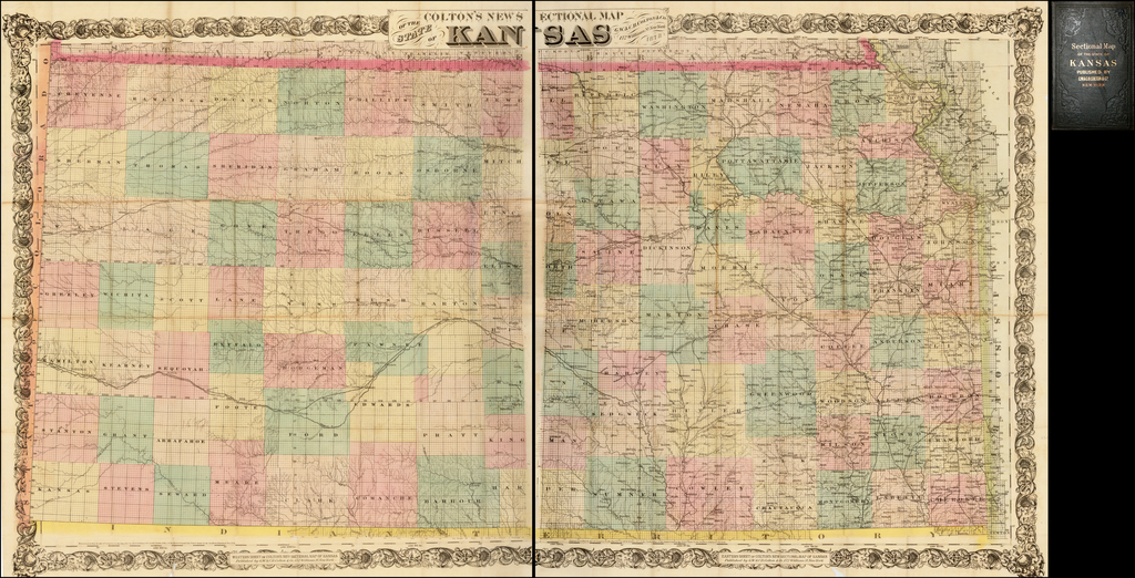 Colton's New Sectional Map of the State of Kansas. By G.W.  & C.B. Colton