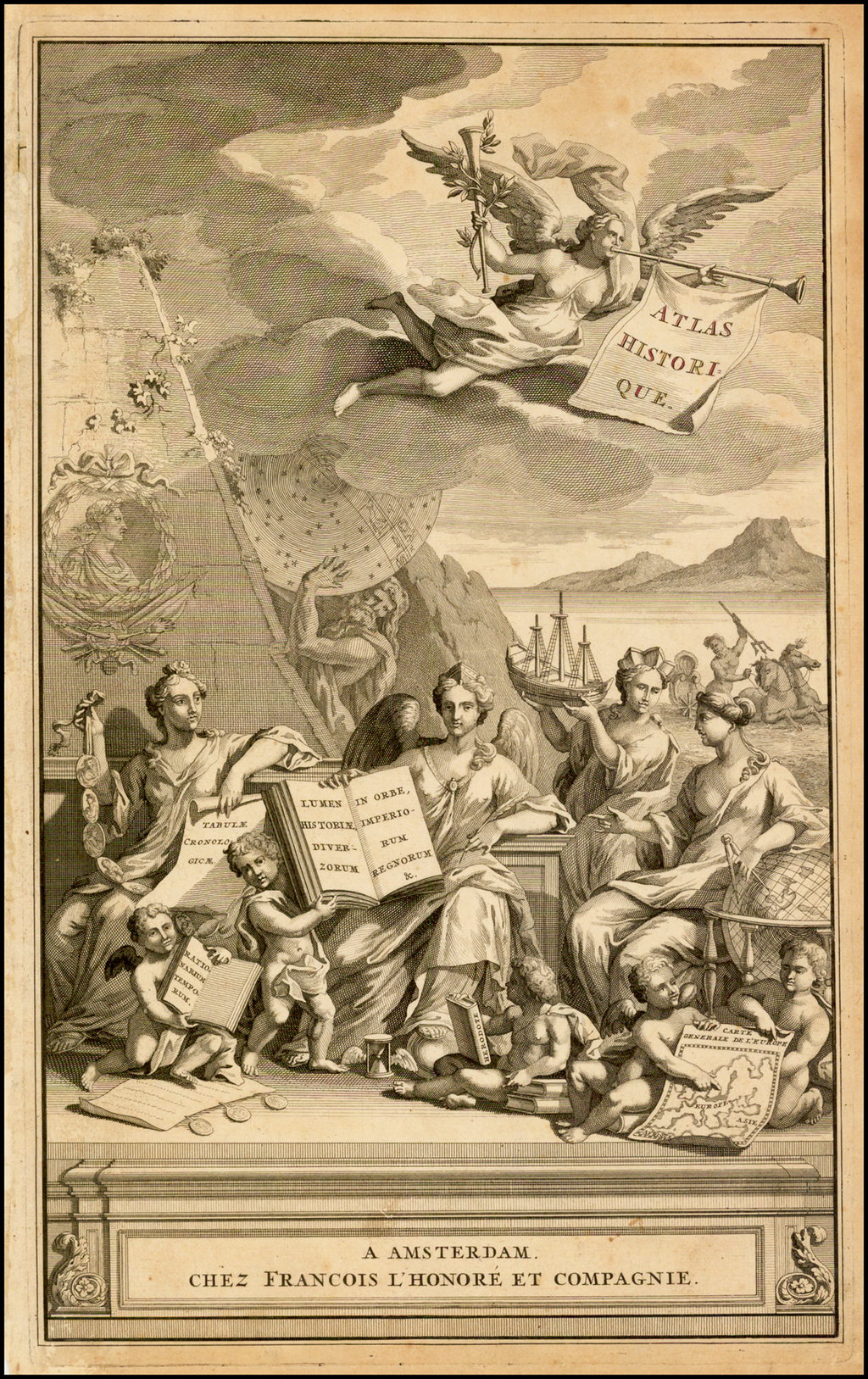 [Title Page] Atlas Historique   By Henri Chatelain