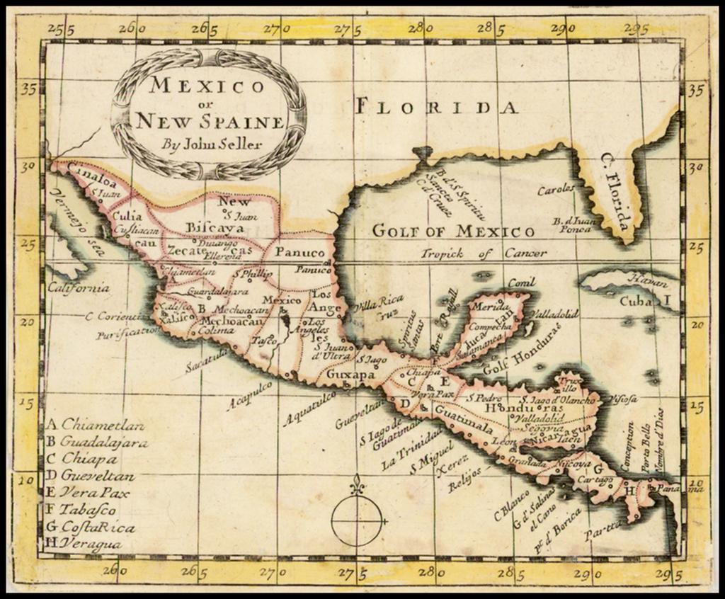 Mexico or New Spaine By John Seller By John Seller