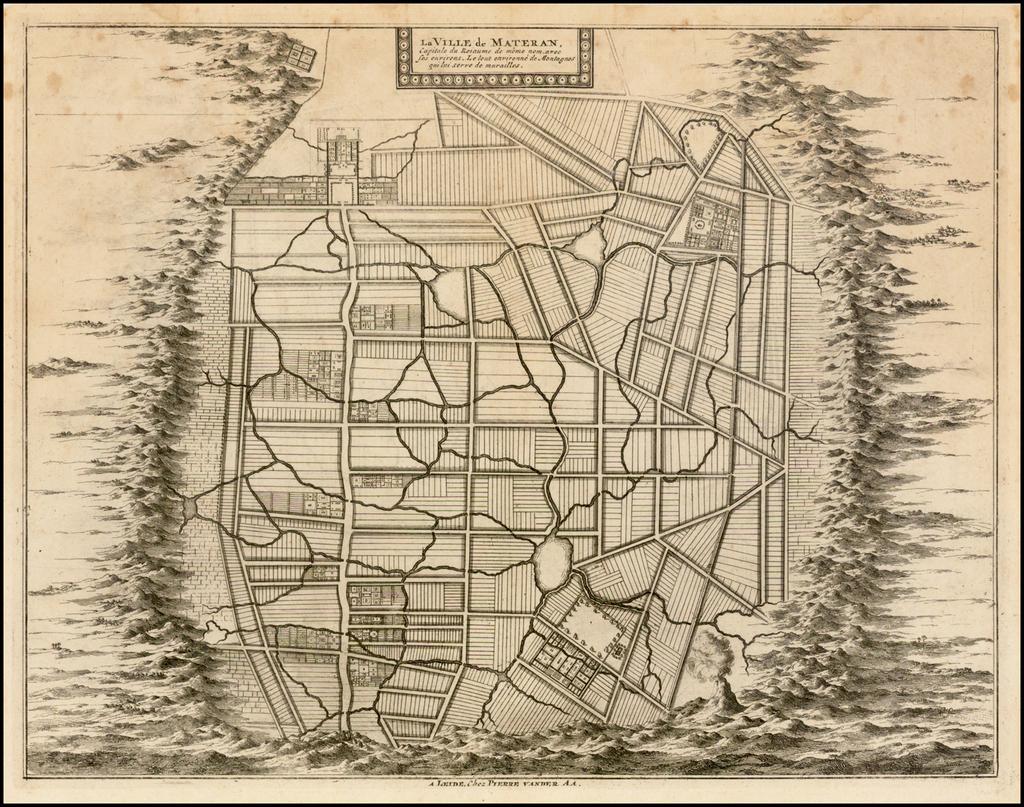 La Ville de Materan, Capitale du Roiaume de Meme nom, avec ses environs . . . . By Pieter van der Aa