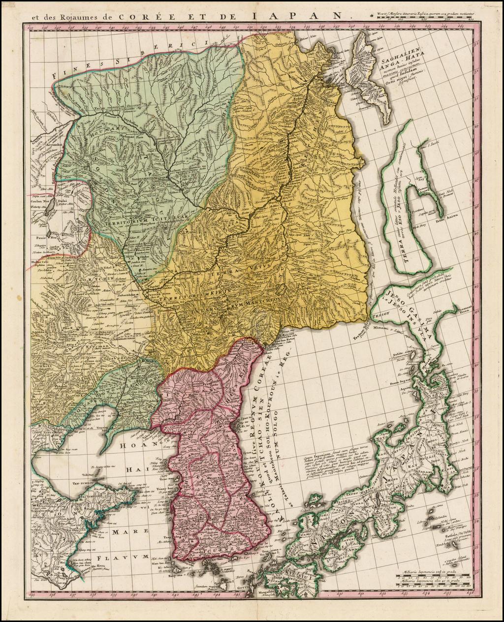 et des Rojaumes de Corée et de Japan By Homann Heirs