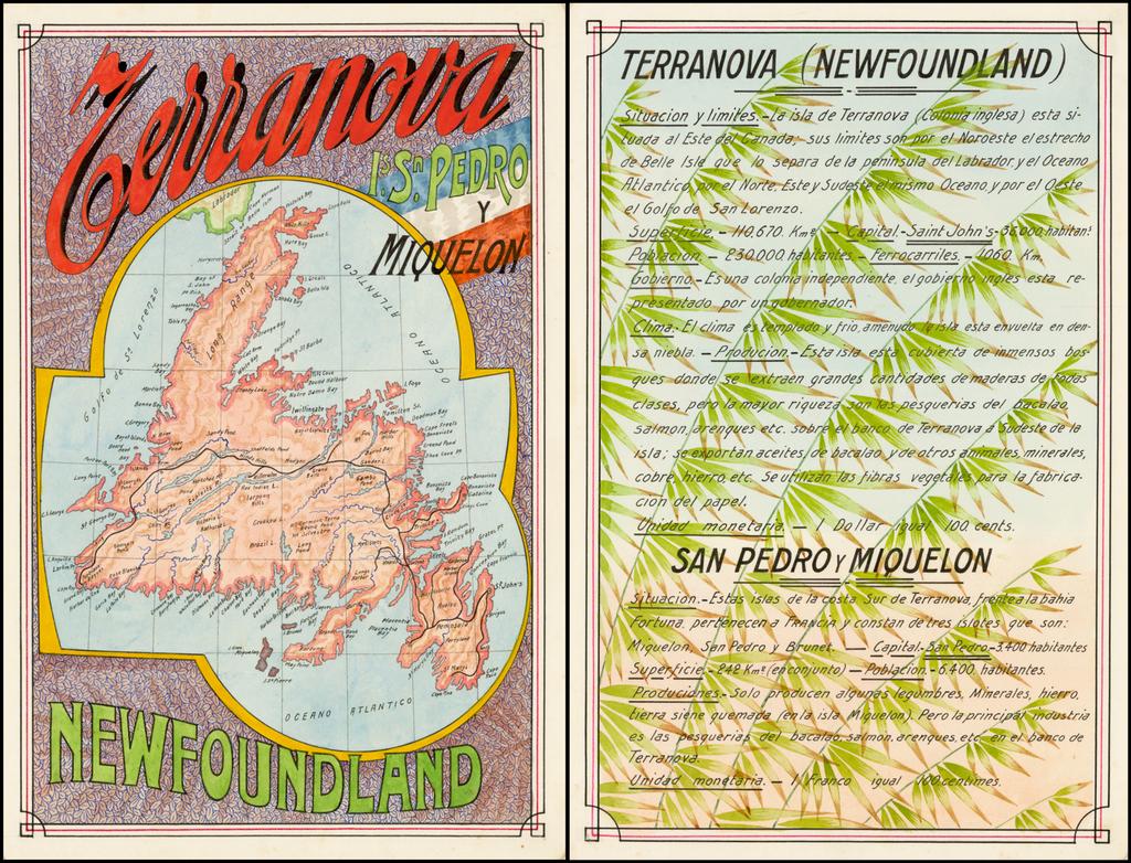 Terranova Is. Sn Pedro y Miquelon By Antonio F. Raggio
