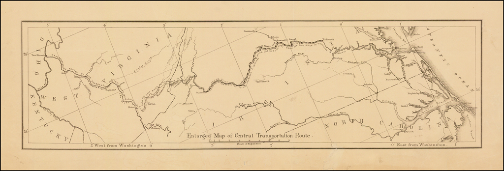 Enlarged Map of Central Transportation Route By U.S. Army Corps of Engineers