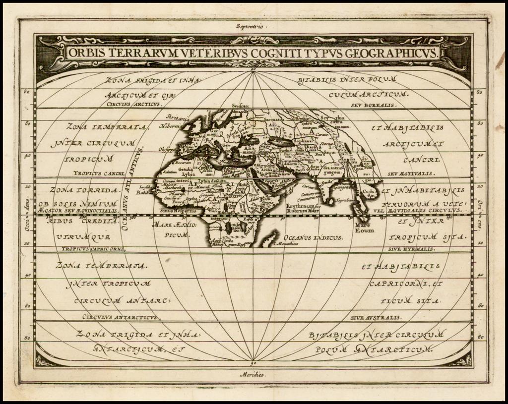 Orbis Terrarum Veteribus Cogniti Typus Geographicus By Philipp Clüver