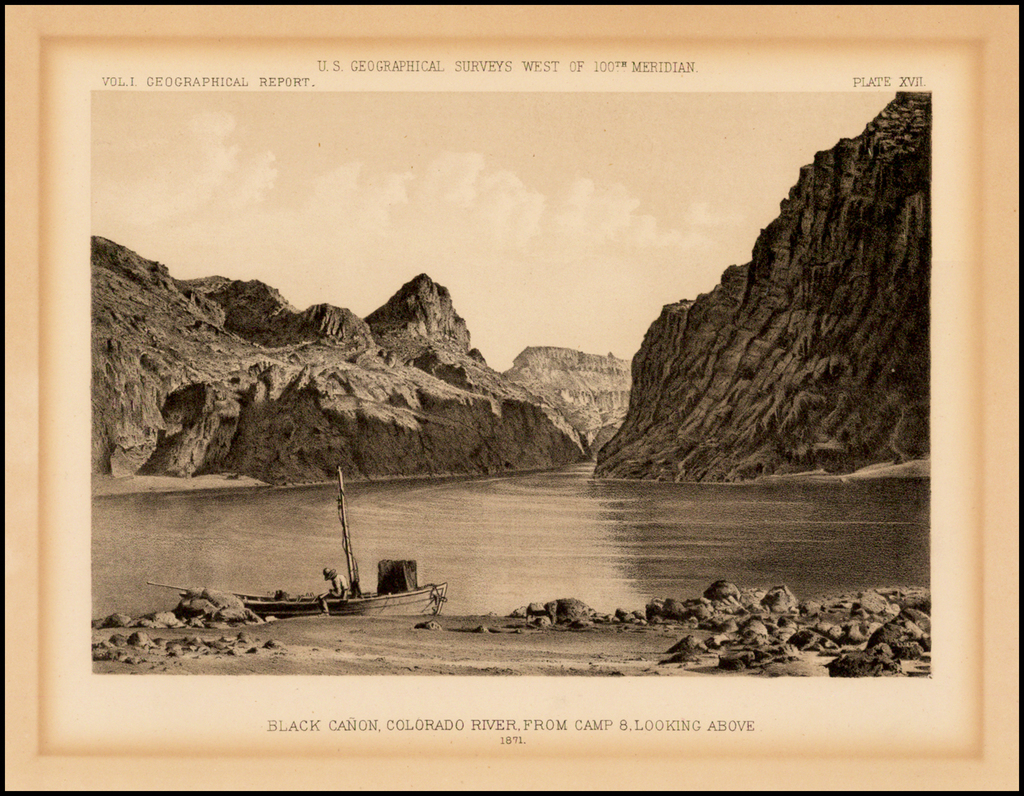 Black Cañon, Colorado River, From Camp 8, Looking Above.  1871. By