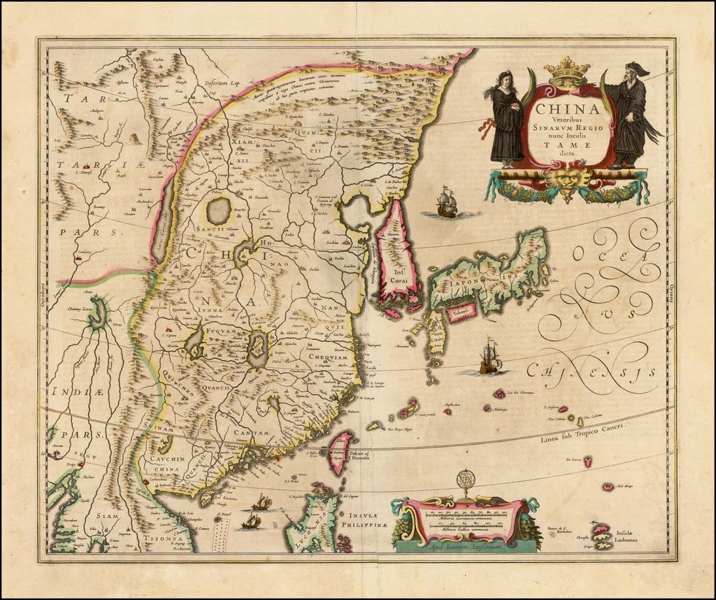 China Veteribus Sinarum Regio nunc Incolis Tame dicta By Jan Jansson