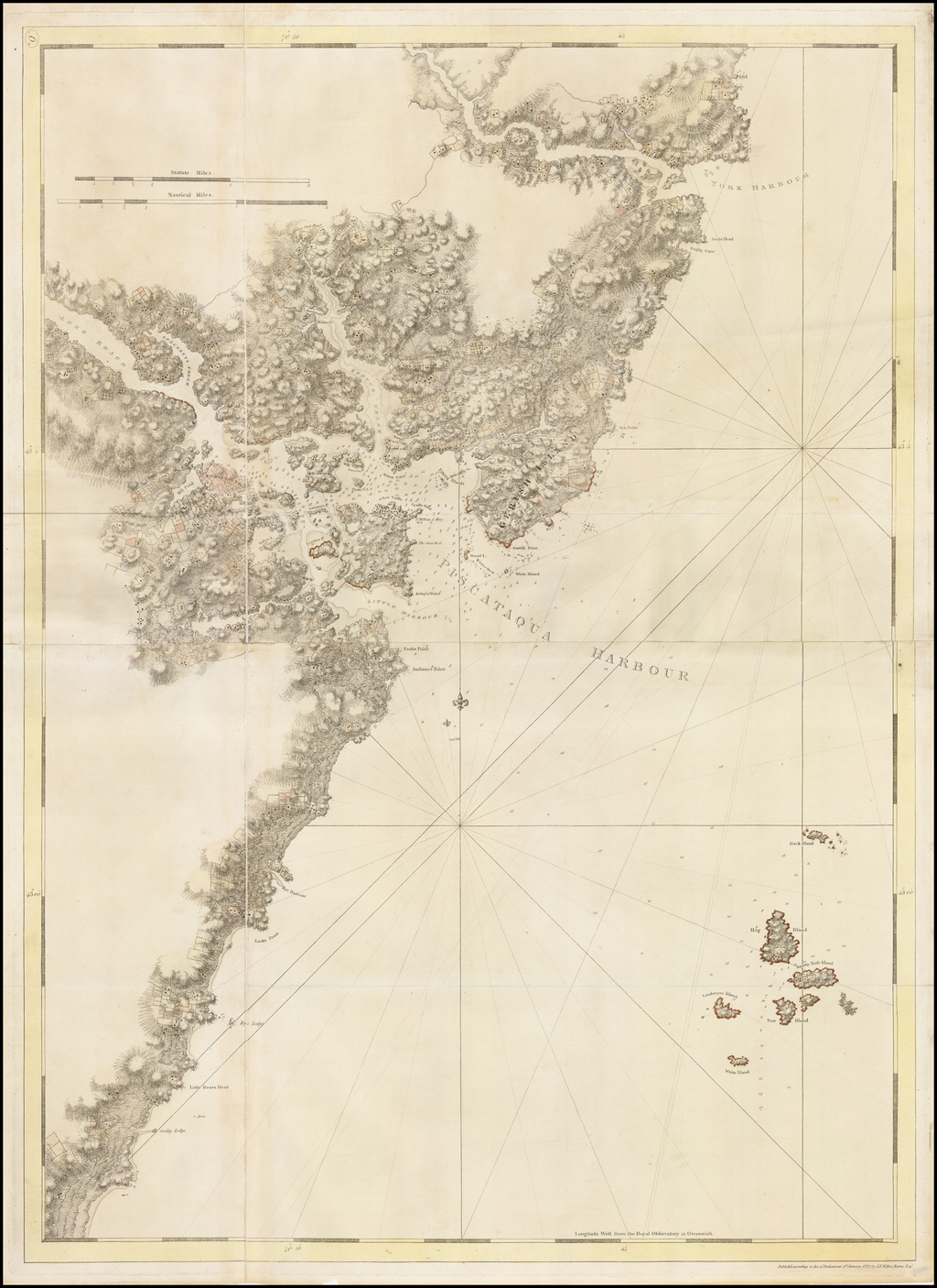 [Piscataqua Harbour and Environs -- The Atlantic Neptune]   By Joseph Frederick Wallet Des Barres