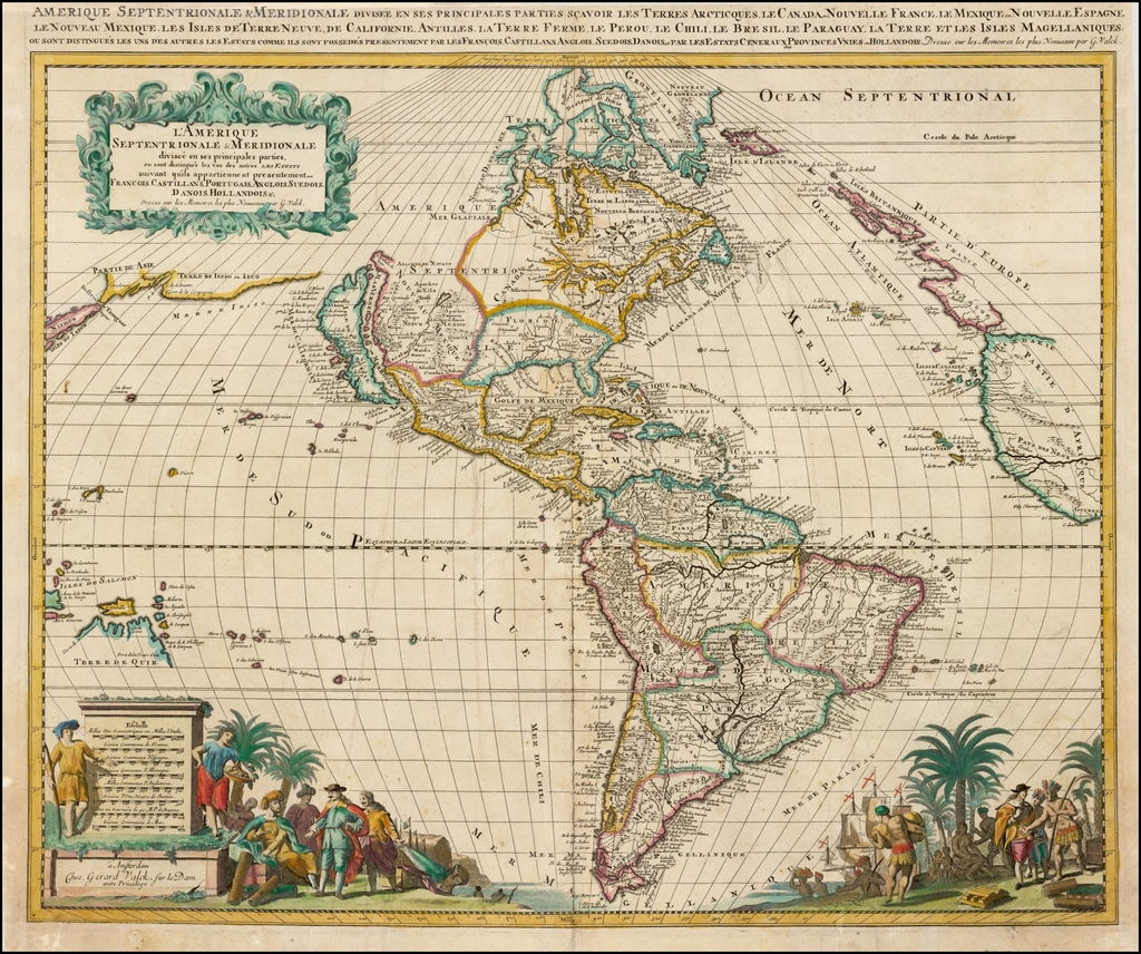 L'Amerique Septentrionale & Meridionale divisee en ses principales parties . . .  By Gerard Valk