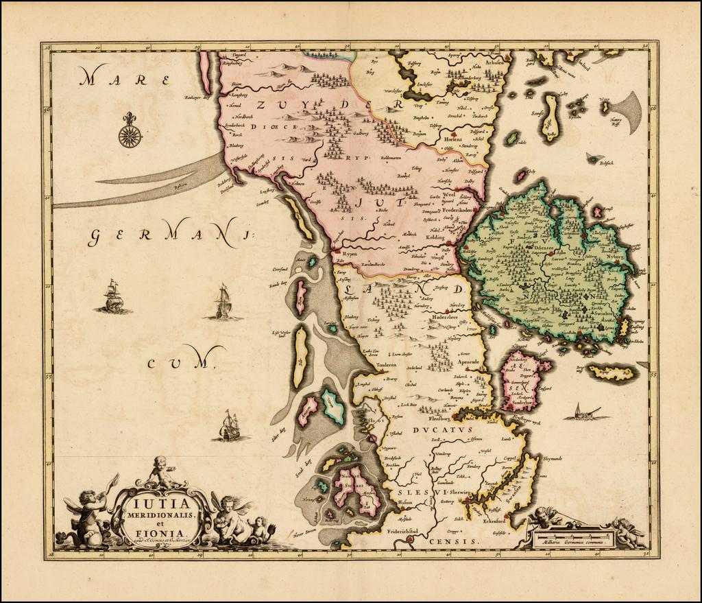 Iutia Meridionalis, et Fionia . . .  By Johannes Covens  &  Pieter Mortier