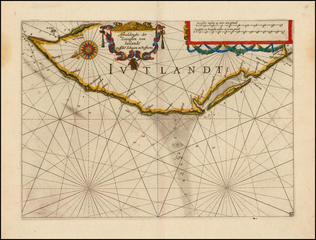 Afbeeldinghe der Zeecusten van Iutlandt sussche Schagen en Reshorn By Willem Janszoon Blaeu