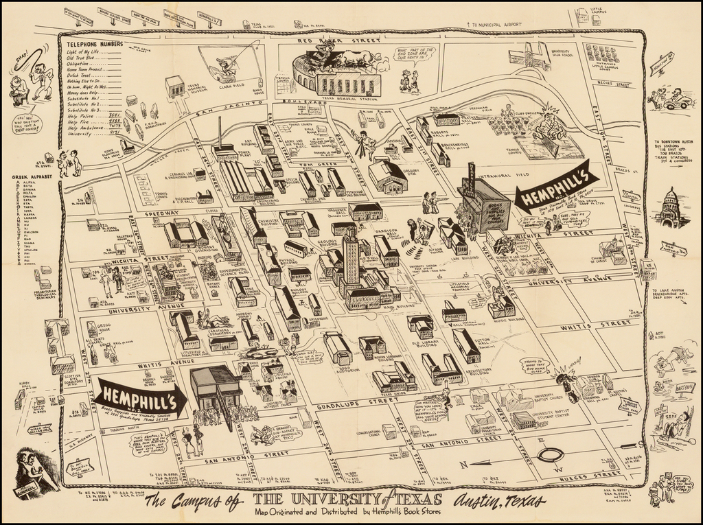Map Of Texas University Austin.The Campus Of The University Of Texas Austin Texas Map Originated